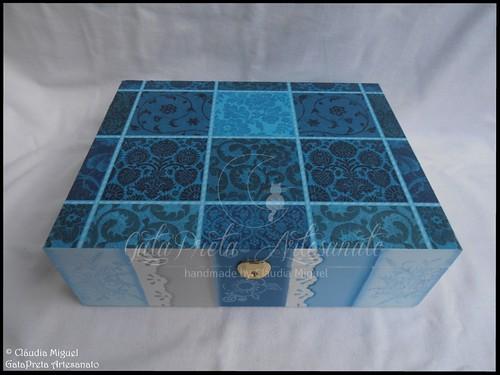 """Caixa para 12 relógios """"Cold Blue"""""""