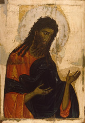 Unknown Icon Painter (Byzantine) Saint John the Baptist Second Half 13th century-Early 14th Century Tempera on Panel, 87.5 x 66 x 2.8 cm. The State Hermitage Museum, Russia (medievalpoc) Tags: art history panel russia icon medieval byzantine tempera 1200s 1300s medievalpoc