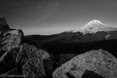 Mt Hood at Sunset (joshvanderzanden) Tags: blackandwhite mountains nature monochrome oregon landscapes hiking mthood pacificnorthwest tomdickandharryridge