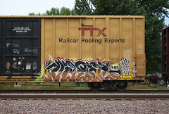 Nasal (quiet-silence) Tags: graffiti graff freight fr8 train railroad railcar art nasal ttx tbox boxcar tbox661728