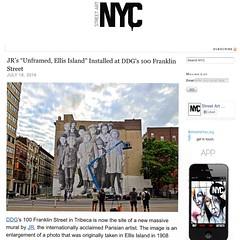 JR in Tribeca (LoisInWonderland) Tags: nyc streetart photography jr installation tribeca immigrants ellisisland streetartnyc