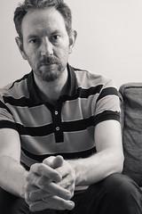 Selfie (JonMad) Tags: selfie selfportrait sepia blackwhite portrait casual man 40s male
