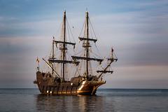 El Galeon Andalucia Tall Ship (Dale Kincaid) Tags: sea mist fog sailboat boat ship ships vessel el andalucia spanish pirate transportation sail tall nautical navigation brume galleon galeon tagsel