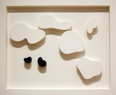 Jean Arp (Hans Arp), Constellation with Five White and Two Black Forms:  Variation 2, 1932 (Sharon Mollerus) Tags: newyork unitedstates museumofmodernart