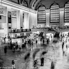 Grand Central Terminal-5 (estellerobertnyc) Tags: grandcentralterminal manhattan nyc newyork usa blackandwhite noiretblanc