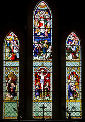 Stoke Lacy Herefordshire - East Window (David Cronin) Tags: glass stainedglass stained herefordshire nativity ascension crucifixion stokelacy