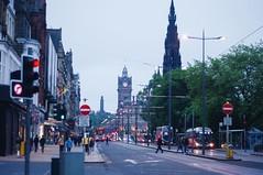 Street in Edinburgh (hoting427) Tags: trams streetview cars lights road pentaxkr pentax edinburgh street