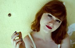 Crazy Mary* (AlexGinger) Tags: woman mujer femme beauty freckles redhead ginger staring eyes portrait