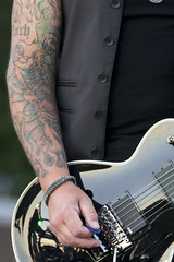 Green Light means GO! (cjb_photography) Tags: band music tattoos strings pick concert strumming