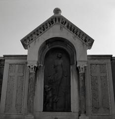 In a Cemetery, Venice (austin granger) Tags: venice cemetery death crypt tomb floating transcendence flight cross impermanence austingranger film sanmichele isoladisanmichele cimitero memorial grave