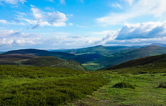 Surrounded by Mountains and Sky (ronamkelly) Tags: sky clouds cloudy cloud skies mountains wicklow ireland roundwood green blue irish view scenery scenic valley