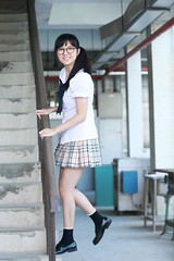 DP1U1159 (c0466art) Tags: pretty lovely cute high school girl taiwan  young tall nice figure sweet smile uniform cloth charming gorgeous portrait light canon 1dx c0466art
