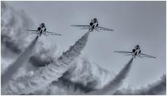 Silver Arrows (Brendan Masterson) Tags: redarrows bournemouthairfestival hawk airshow airdisplay monochrome smoke nikon d7200 dorset nikon300mmf4