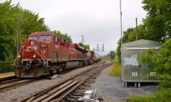 A pair of ES44AC's (Michael Berry Railfan) Tags: cp canadianpacific cp650 ethanoltrain unittrain ge generalelectric gevo es44ac buffercar montreal lasalle adirondacksub quebec train freighttrain cp8841 cp8833