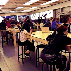 The Apple Store III (misterperturbed) Tags: apple applestore towsontowncenter prisma