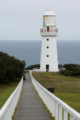 Cape Otway (suzeturn) Tags: capeotway lighthouse white path fence water ocean victoria australia