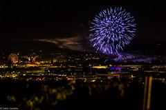Feuerwerk 03 (fadenfloh) Tags: jahrmakrt feuerwerk firework blau blue city stadt nacht lichter lights night