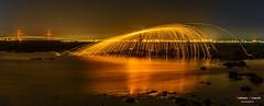 Lana de acero (Antonio Camelo) Tags: nikon night noche landscapes lights luces lana reflections reflejos