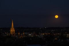 Moon Rise over Bendigo (Joel Bramley) Tags: city moon night dark astro full astrophotography astronomy lunar