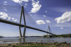 Uddevallabron  - Uddevalla Bridge (Mabry Campbell) Tags: bridge blue sky water architecture photography photo europe foto photographer image fav50 sweden may bluesky nopeople fav20 explore cables photograph april 100 f56 bild scandinavia fav30 archipelago fineartphotography 2014 uddevalla skanska 17mm cablestayed vstragtaland colorimage commercialphotography fav10 flickrexplore cablestayedbridge fav100 fav200 fav300 ef1740mmf4lusm explored 2013 fav40 fav60 mostlysunny fav90 uddevallabron fav80 fav70 fav500 houstonphotographer fav400 sec bohusian fav600 fav700 skanskaab mabrycampbell april182013 201304180h6a1262