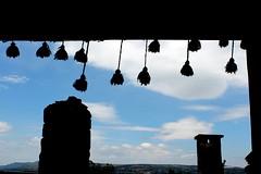 tassels (overthemoon) Tags: sky clouds turkey shopping village path details trkiye windy turquie trkei chimneys stalls contrejour tassels assos anakkale presstrip behramkale