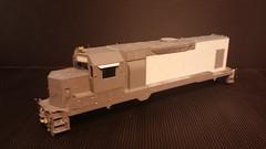 CSX - MATE (Road Slug) GP35 (Body) #2230 - Stripped - HO Scale - Cond Front 3-4 - Jun-7-15 - K. Crawley (dcmkris) Tags: atlas csx hoscale gp402 custompainted darkfuture roadslug mothermate