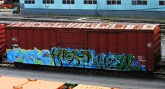 enok - keso - week (timetomakethepasta) Tags: train graffiti week boxcar freight ics keso cirr enok