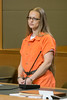 Angelika Graswald stands in court with Michael Archer a foresnsic scientist and her attorneys Jeffrey Chartier and Richard Portale ask for bail and to unseal the indictment against her at her bail hearing in Goshen, NY on May 13, 2015.  Ms. Graswald has b (UJB88) Tags: county orange female one prison jail piece prisoner jumpsuit inmate institution correctional restrained handcuffed