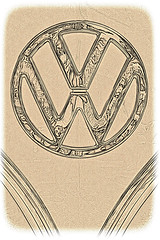 VW Bus (brev99) Tags: bus car volkswagen logo antique filters topazadjust sigma1770os photoshopelements12