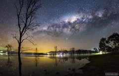 The Milky Way over Bonnie Doon (neilcreek) Tags: travel trees sky lake reflection water silhouette night stars star space competition astro galaxy astrophotography astronomy nightsky universe cosmos milkyway bonniedoon
