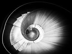 Citizen Spiral - Explored (Sean Batten) Tags: england blackandwhite bw london spiral nikon unitedkingdom staircase gb d800 1424 citizenm photo24london
