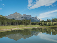 Mount Rundle (GeoKs) Tags: reflection pond canmore mountrundle