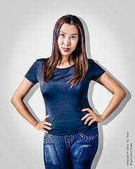 Model Kate Li (Tex Texin) Tags: portrait girl female model call exposure profile curvy jeans denim brunette casting