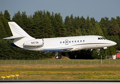N473K (Skidmarks_1) Tags: dassault dassault2000dx n473k businessjets bizjets aviation aircraft airport engm norway osl oslogardermoenairport