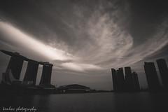 untitled (~kenlwc) Tags: leica sky bw cloud monochrome marina landscape mono bay blackwhite singapore sands 21mm marinabay kenleung elmar21mm28 marinabaysands m9p leicam9p elmar21mmf28 kenlwc