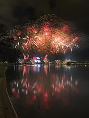 NDP 2016 NE Rehearsal - Fireworks at Singapore Sports Hub from Nicoll (gintks) Tags: seascape reflection singapore celebration finale singapur nationaldayparade kallangriver singaporetourismboard kallangwave sg51 gintks gintaygintks sg2016 nationaldayparade2016