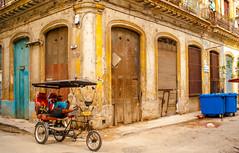 Waiting.... (milachirolde) Tags: street bicycle reading ride taxi havana cuba bicicleta transporte byke wayoflife bicitaxi havanacuba photostreet havanawalk