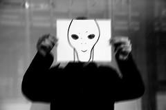 Alien (Mlph97) Tags: friend photo blackandwhite alien people dark canon