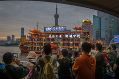 Ferryride (stevefge) Tags: china shanghai ferry reflectyourworld rivers huangpu people girls candid crowds
