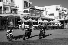 eden on the bay11 (WITHIN the FRAME Photography(5 Million views tha) Tags: outdoors capetown transport bike umbrellas architecture restaurant bw tourism fuji xt1 balconies