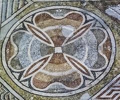 Closeup of a beautiful floral mosaic at Loupian Roman Villa near Loupian, France. (mharrsch) Tags: roman villa loupian mosaic floor pavement architecture ancient gaul france mharrsch archaeology