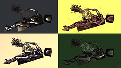 Pandora / Artist : Giovanna Cerise (Bamboo Barnes - Artist.Com) Tags: red orange black green art yellow grey photo digitalart vivid surreal exhibition secondlife pandora virtualart giovannacerise bamboobarnes thelastharbour