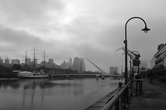 Domingo con neblina (arena.rodrigo) Tags: ship barco puerto madero fragata sarmiento argentina puente de la mujer ro river bridge fog neblina