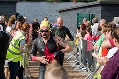 Birmingham Triathlon - Leaving the water (stevehimages) Tags: steveh stevehimages steve higgins grandpas den warden wowzers triathlon sutton park birmingham uk powells pool athlete swim bike run july 2016