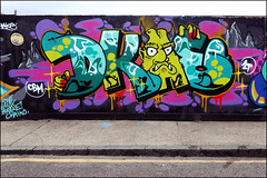 Dkae (Alex Ellison) Tags: dkae cbm 1t hackneywick hw eastlondon urban graffiti graff boobs halloffame