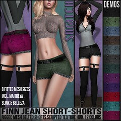 Sn@tch Finn Jean Short Shorts Vendor Ad LG (Tess-Ivey Deschanel) Tags: sntch snatch secondlife sl second life sexy style specials new newrelease newreleases iveydeschanel ivey ihearts deschanel clothing clothes costumes clubwear casual slink omegasystem outfits omega mesh model meshclothing meshclothes models