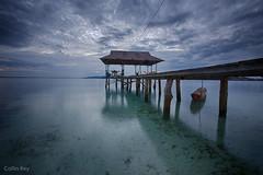 The Calm (Collin Key) Tags: longexposure tranquil beach pier sulawesi togianislands calmwater malenge dawn indonesia blue sea idn
