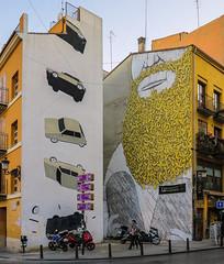 Local Wall - Building Art - Valencia (Canon PowerShot G1X ) (1 of 1) (markdbaynham) Tags: valencia valencian city urban metropolis street spain spainish espanol espana es ciutat canon canonites powershot g1x