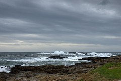El Ratn, Verdicio (ccc.39) Tags: asturias gozn verdicio cantbrico playa rocas espuma atardecer