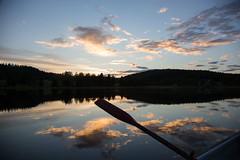 Summers joy (helen.lindholm) Tags: fs160828 sommarnoje fotosondag lake boat sunset cloud sky oar row